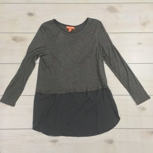 Joe Fresh Women's Size Small Long Sleeve Grey Top